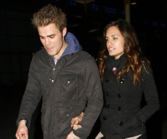 Slide Picture of Paul Wesley and Torrey DeVitto