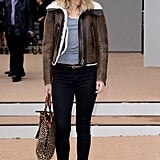 Being a Burberry girl has its perks, like access to the best coats in the country! At the Burberry Prorsum show in September 2013, we were all jealous of Suki's shearling aviator jacket.