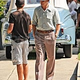 Ryan Gosling filming The Gangster Squad.