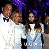 Jay Z, Beyoncé, Jared Leto, and Lupita Nyong'o