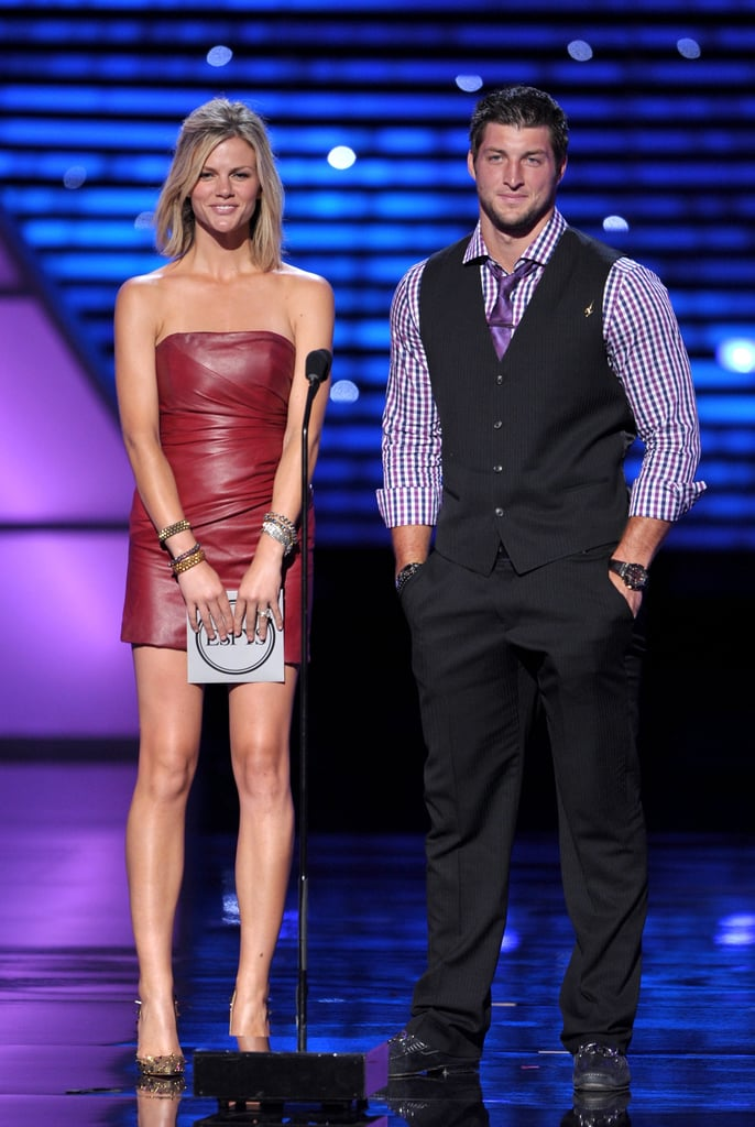 Brooklyn Decker presented an award with the NFL's Tim Tebow.