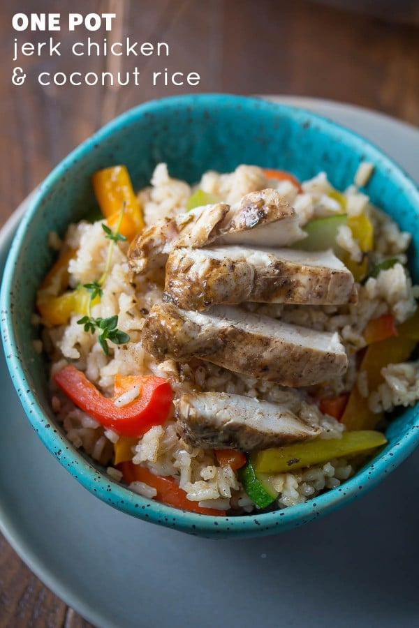One-Pot Jerk Chicken and Coconut Rice