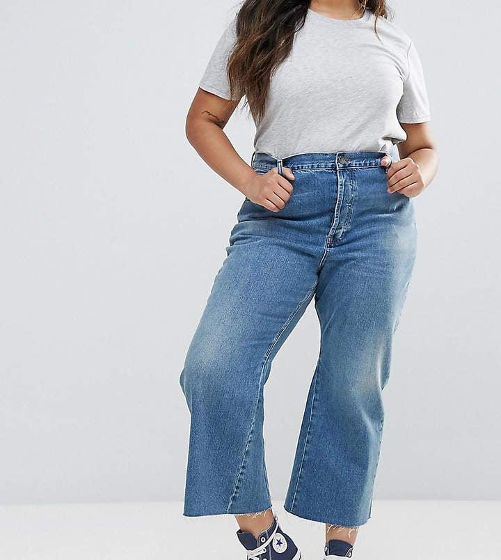 Asos Rigid Crop Flare Jeans