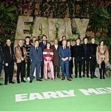 Tom Hiddleston, Maisie Williams, Eddie Redmayne at Early Man