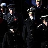 Prince William walked in the Remembrance Sunday parade.