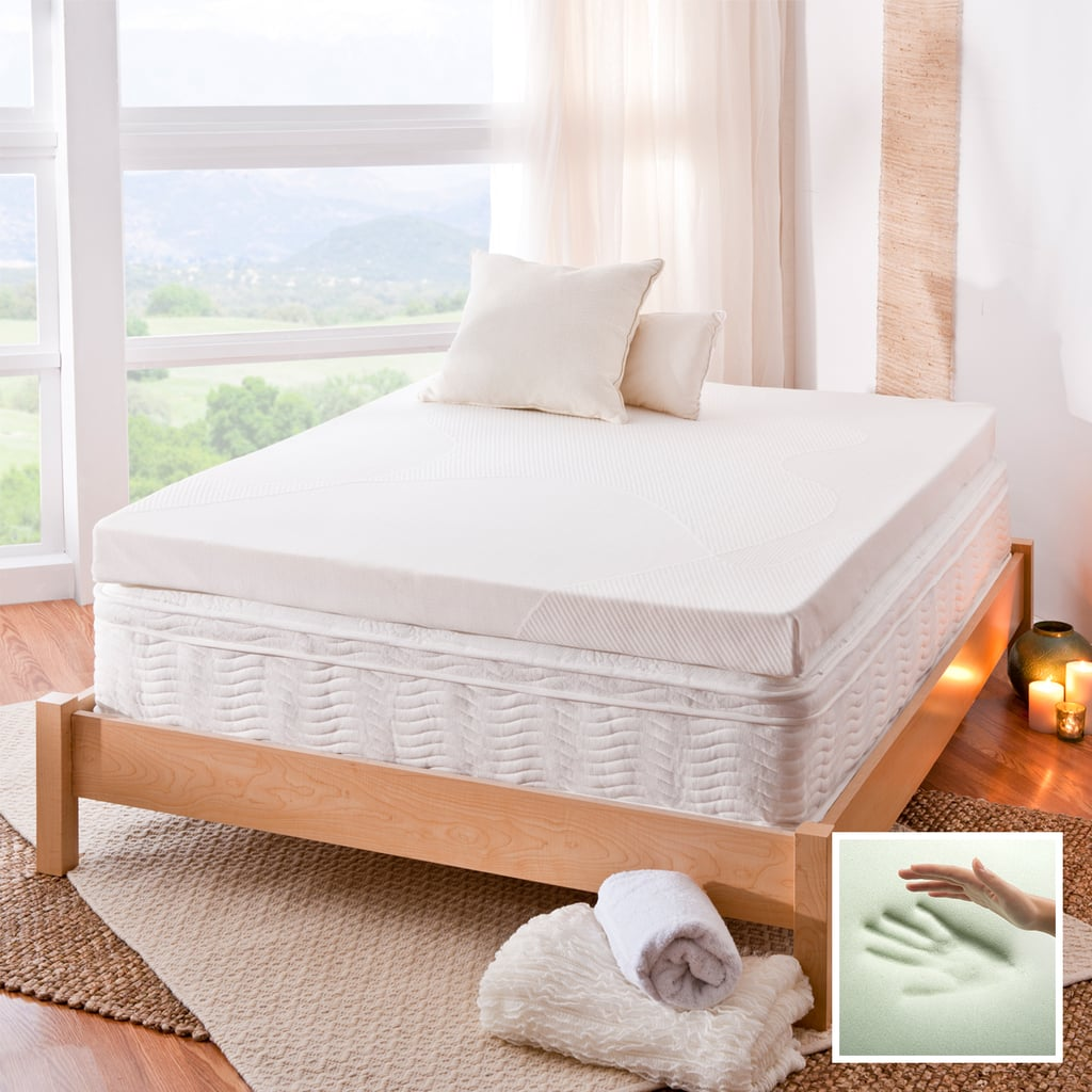 Spa Sensations 4 Inch Memory Foam Mattress Topper With Theratouch