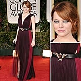 Emma Stone's been wowing everyone this award season, and she shows no sign of stopping. Tonight, she chose a gorgeous gown by Lanvin.