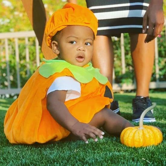 Kaavia James Union Wade's Pumpkin Halloween Costume Photos
