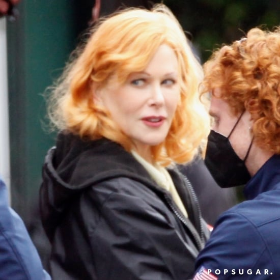 Nicole Kidman as Lucille Ball on Being the Ricardos Set