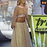 Britney Spears cohosted the MTV TRL Awards in 2003.