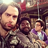 Chris D'Elia got serious on the set of Whitney. Source: Instagram user chrisdelia