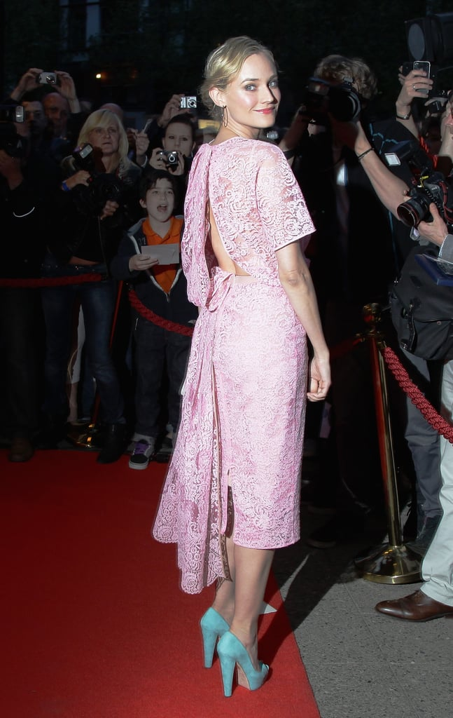 Diane Kruger Looks Lovely in Lace on the Red Carpet