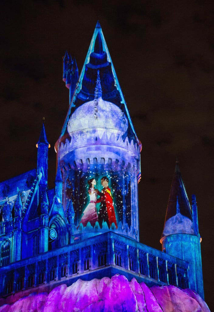 harry potter christmas at hogwarts at universal and london popsugar entertainment