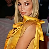 Jennifer Lopez's Blonde Lob in September 2019
