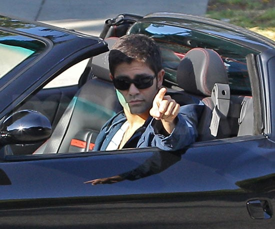 Slide Picture of Adrien Grenier Filming Entourage