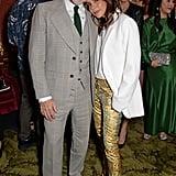David Furnish and Victoria Beckham