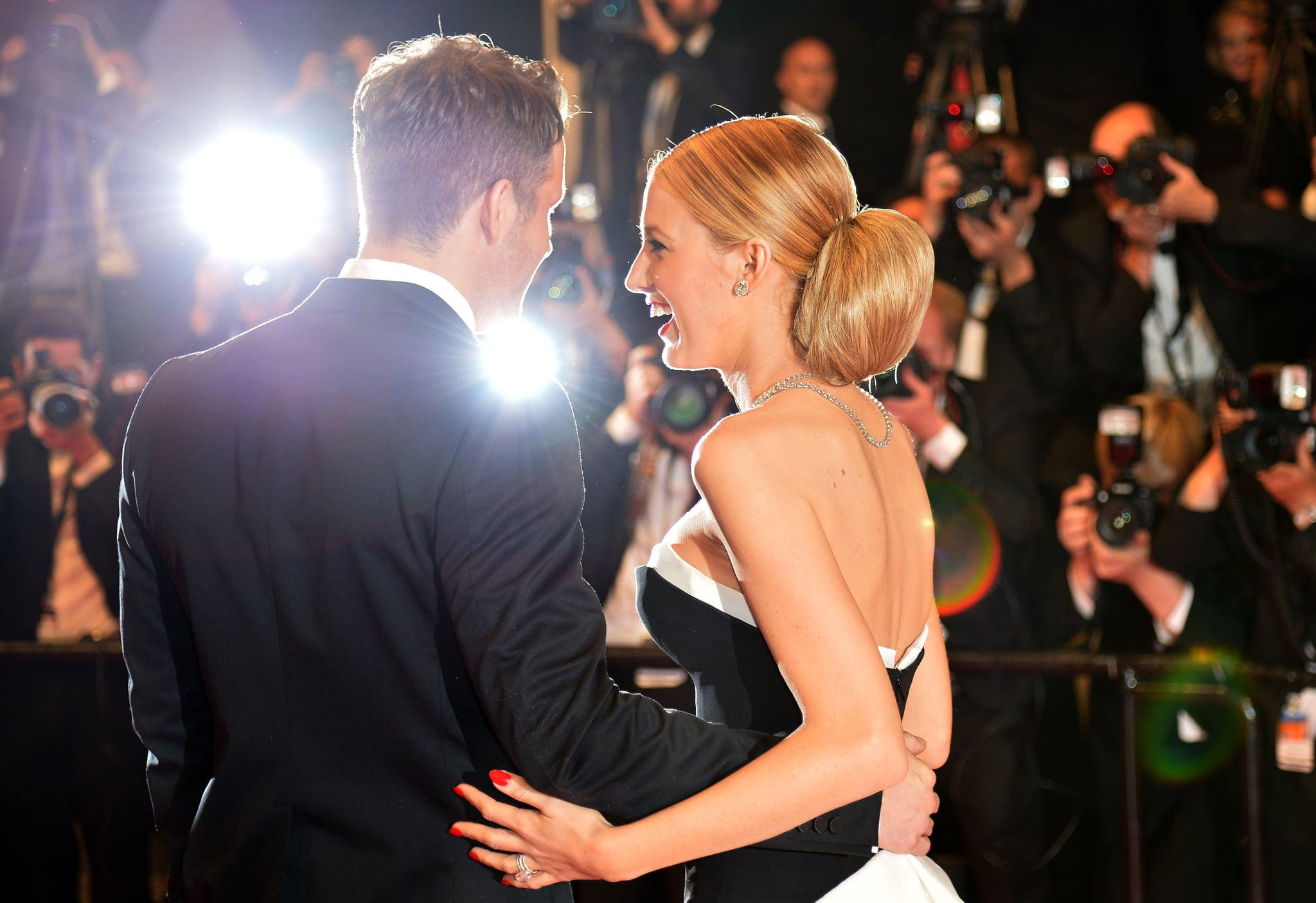 Blake Lively and Ryan Reynolds shared a laugh at The Captive's premiere.