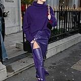 Hailey Bieber in Paris