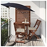 Gateleg Table With Wall Panel and Chairs
