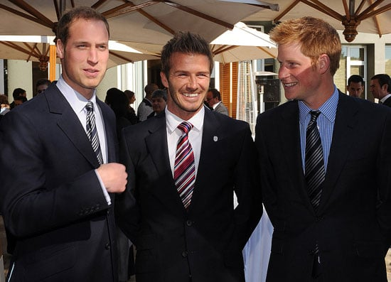 Pictures of David Beckham, Prince William and Prince Harry in South Africa For World Cup, Chelsy Breakup Reports, Kate Moving In