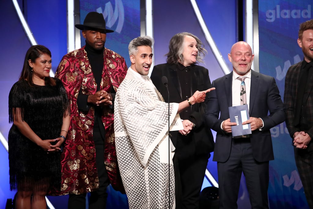 The stars of Queer Eye — Tan France, Karamo Brown, Jonathan Van Ness, Bobby Berk, and Antoni Porowski — were fierce and fabulous at the GLAAD Media Awards on Thursday night. The quintet attended the event, serving looks and good laughs as they honoured media efforts to support the LGBTQ+ community. They posed alongside each other on the red carpet and even shared a few snapshots with other celebrities such as Jameela Jamil, Olivia Munn, and Meghan Trainor. Tan, Karamo, Jonathan, Bobby, and Antoni also took the stage to accept the award for outstanding reality program — a title they've earned since the show first turned viewers into puddles of tears when it dropped on Netflix in 2018. Queer Eye's third season premiered in March, and it's just as emotional as the first two. Fans were introduced to some of the most incredible people with touching stories and inspirational transformations. The new season also brought us a newfound love for barbecue sauce and sparked a squirrel debate. So we'd say it's an outstanding reality program, indeed!      Related:                                                                                                           13 Serious Jams You'll Hear in Queer Eye's Third Season