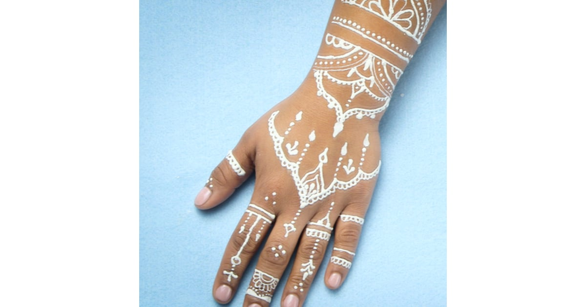Amazing White Henna Popsugar Beauty Middle East