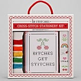 Send a sassy note with handmade flair using this cross-stitch stationery set ($20).