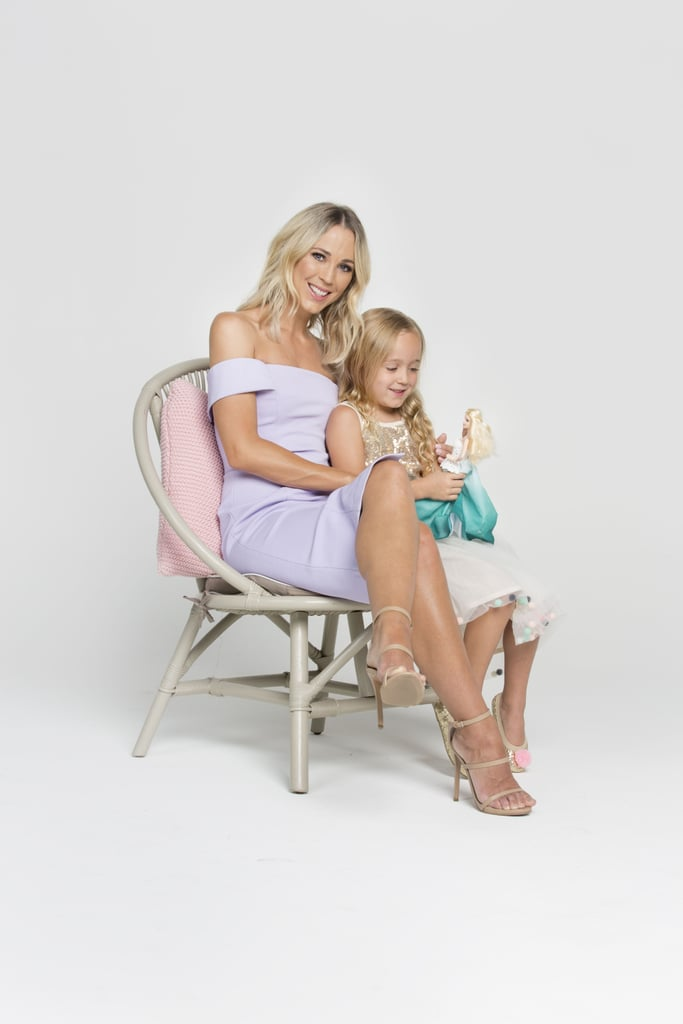 """POPSUGAR Australia: How does one become the face of Barbie Christmas? It's such a cool gig!  Bec Hewitt: Yes, yes! I was approached not too long ago, and it was not something I even had to think about — it was the perfect fit for me. I grew up with Barbie and now having two girls, my love for Barbie I've just naturally passed on to them. Now I see them playing Barbie like I used to with my sister — Mia is all about how beautiful the Barbie is and keeping her in her box, whereas Ava loves to act her Barbies out in her dollhouse. It takes me back to my childhood, really. I feel pretty excited about it, absolutely. I don't like to take anything on if I don't feel passionate about it — so this is a really good fit for me; I know the products. We watch all the Barbie movies — we wait for each new one to come out!  PS: That's so cute. Your girls must be so excited that their mum is the Barbie ambassador.  BH: Yeah, and I also think it's nice to encourage that imaginative play, just to get away from technology. I'll stand and think, """"Where's Ava got to in the house?"""" and I'll walk down and there she is, sitting on the floor, playing with her Barbie in her Barbie House. Which is great — they learn to occupy themselves, which is really important.  PS: There's more human interaction for kids there as well, which is always good.  BH: There is! Preparing you for life as a grown up . . . acting out those little scenarios."""