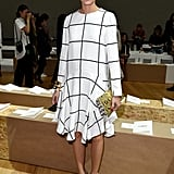 Olivia saw the Chloé show in a look that proves that black-and-white doesn't have to be boring.