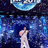 Jennifer Lopez Galia Lahav Jumpsuit on New Year's Eve