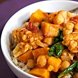 Entrée: Chickpea Coconut Curry With Sweet Potatoes