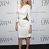 Wearing a Roberto Cavalli dress to the Swarovski Crystallized Concept store opening in 2009.