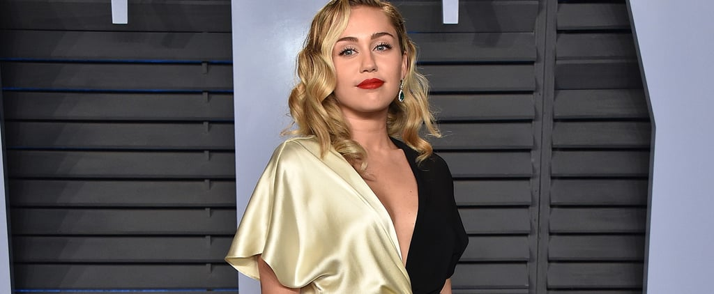 Miley Cyrus Is Giving Us Cruella de Vil Vibes in Her Oscars Afterparty Dress