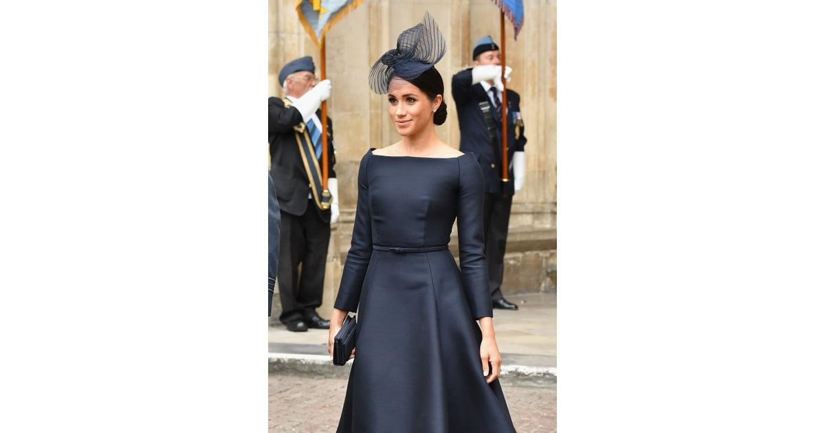 The Black Dior Dress Meghan Markle Bateau Neckline