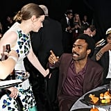 Pictured: Gillian Jacobs and Donald Glover