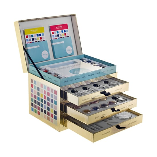For the serious DIY nail-art lover, the Ciaté Nail Lab ($65) comes with everything she needs to up her at-home manicure game. The set comes with bottles of polish and pots of glitter and shimmer, so she can literally mix up her own custom shades. Plus, there's a funnel and test tubes to make it easier to mix and match. And when she's ready to polish up, there are nail-art tools to customize her look even more.