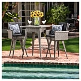 Puerta Square All-Weather Wicker Patio Dining Bar Set