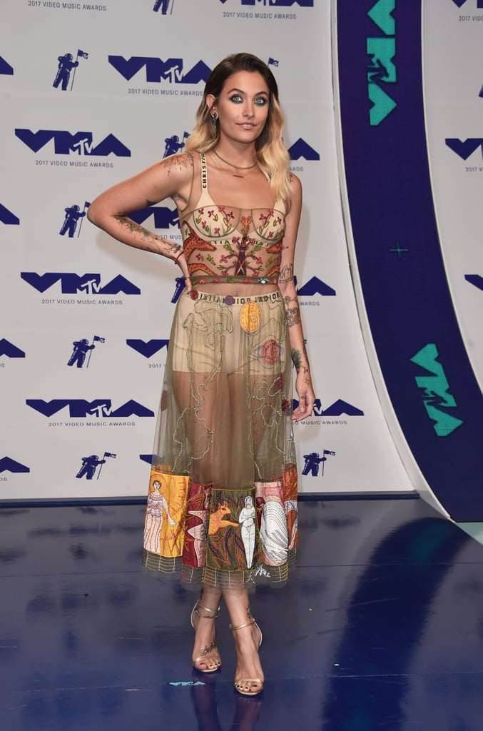 Paris Jackson Wearing Dior Dress at VMAs 2017