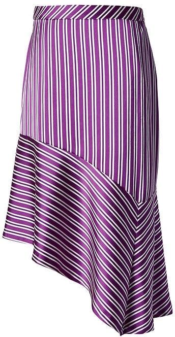 Banana Republic Stripe Asymmetrical Hem Skirt