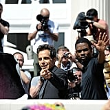 Chris Rock and Ben Stiller gave a wave to photographers at the Cannes Film Festival.