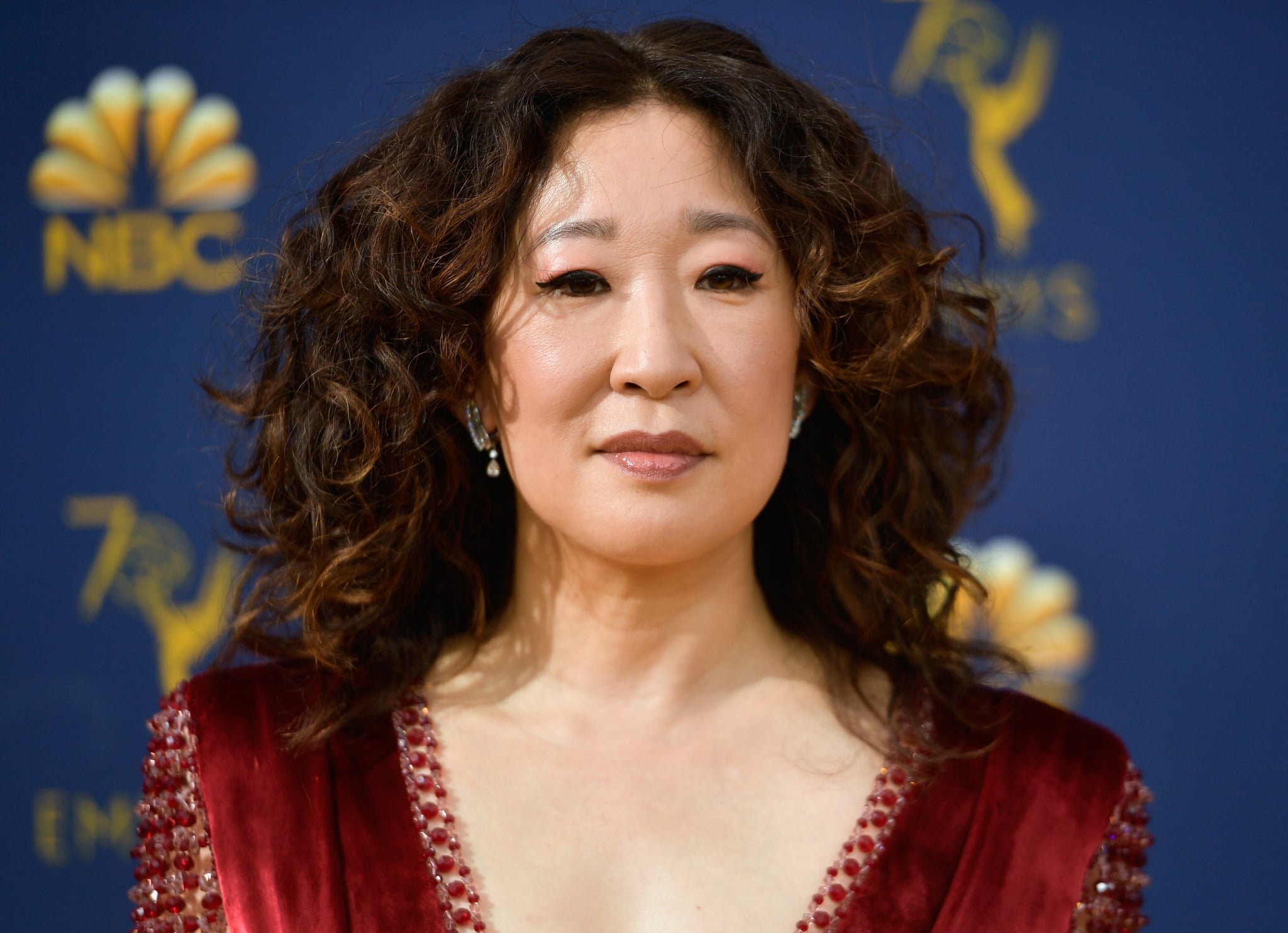 LOS ANGELES, CA - SEPTEMBER 17: Sandra Oh attends the 70th Emmy Awards at