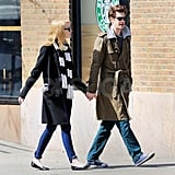 Emma Stone and Andrew Garfield were holding hands.