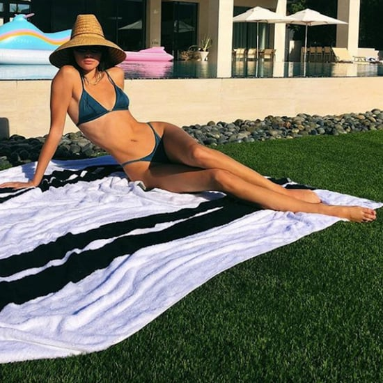 Kendall Jenner Teal Bikini