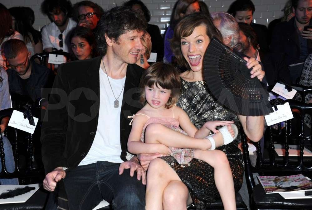 Milla Jovovich, Ever Anderson, and Paul W.S. Anderson made enthusiastic front-row guests at Gaultier's couture show.