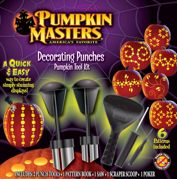 Pumpkin masters decorating punches carving kit