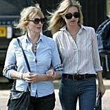 Kate Moss steps out to a pub in London with her mother Linda.