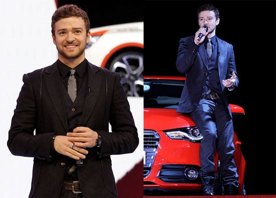 Photos of Justin Timberlake Introducing the New Audi A1 in Switzerland at the Geneva International Motor Show 2010-03-02 17:30:32