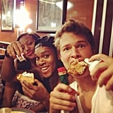 Yes, that would be chicken and waffles. Source: Instagram user anselelgort