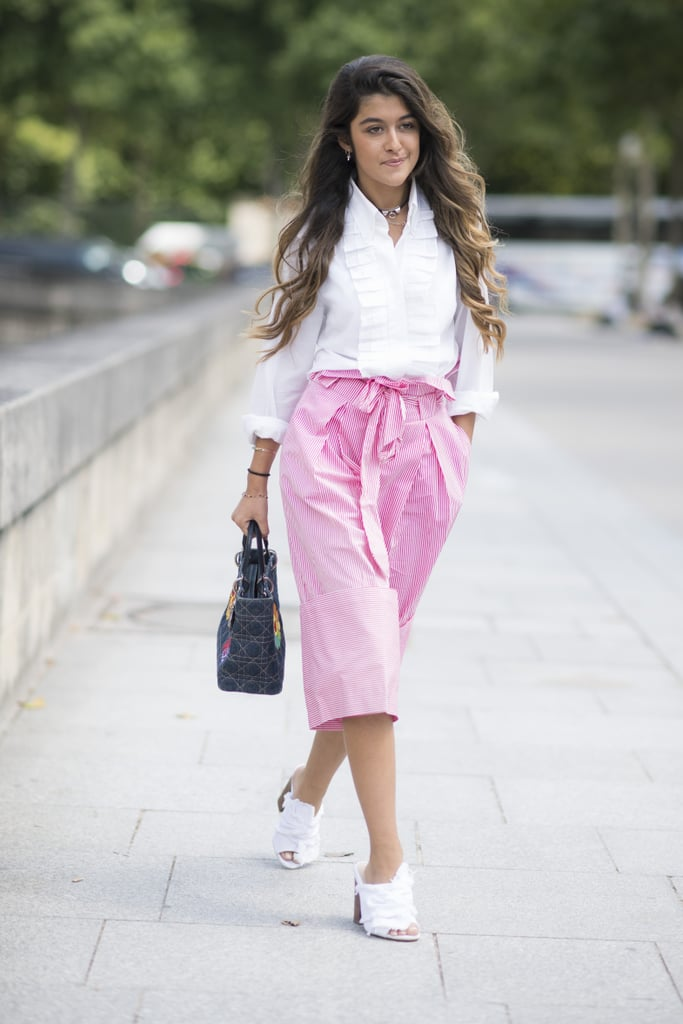 A pop of pink is all you need to make your outfit stand out.