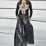A Sweater and Leather Pants From the Chanel Fall 2020 Runway at Paris Fashion Week